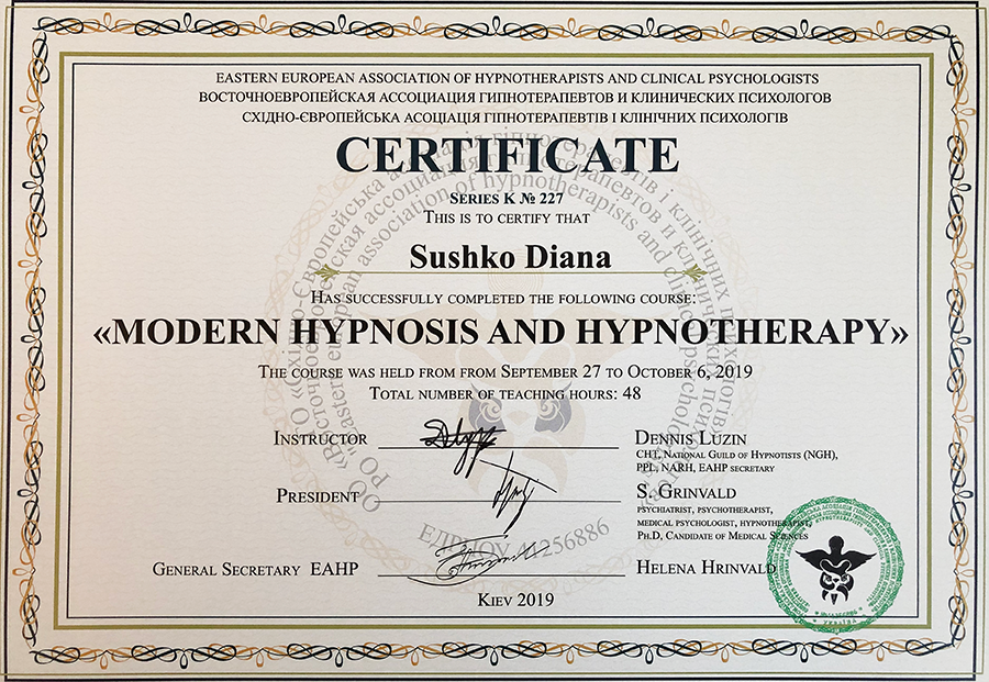 Modern hypnosis and hypnotherapy